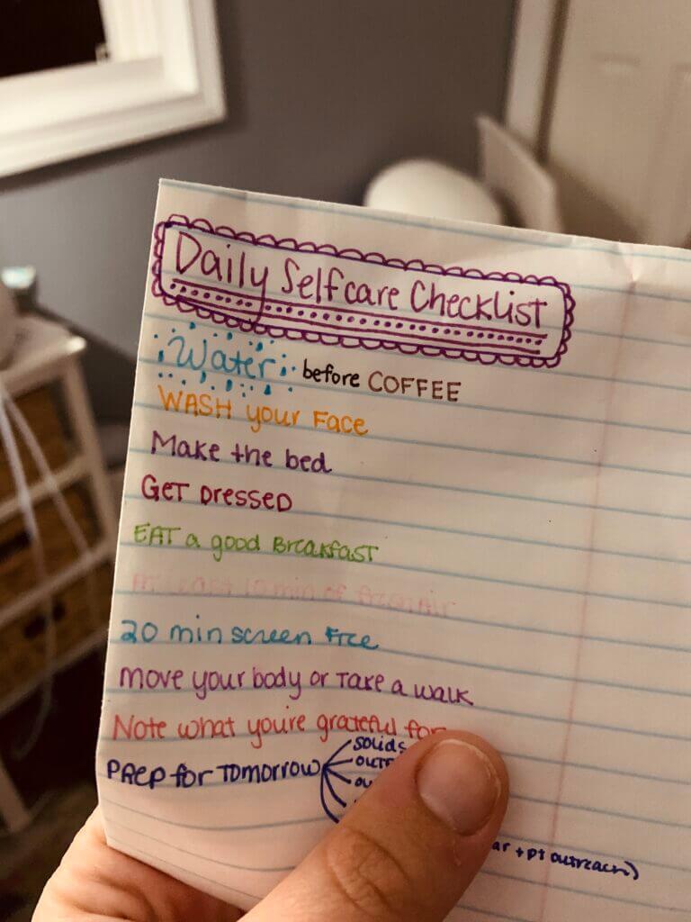 super achievable self-care checklist, right?