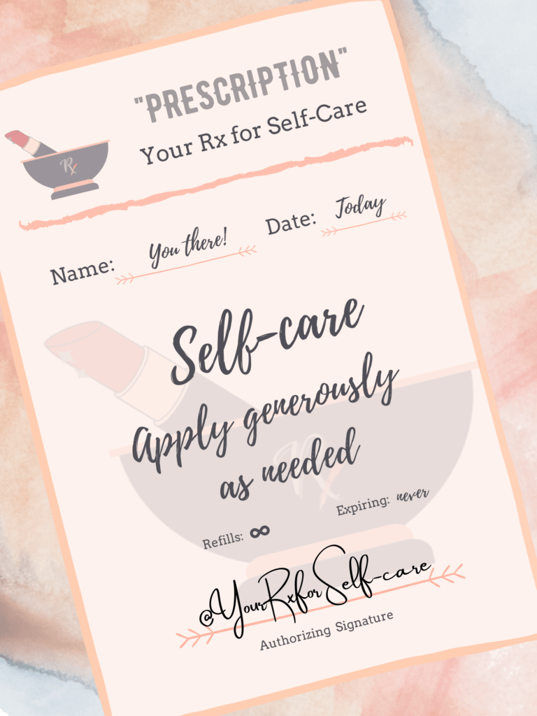 your first prescription for selfcare