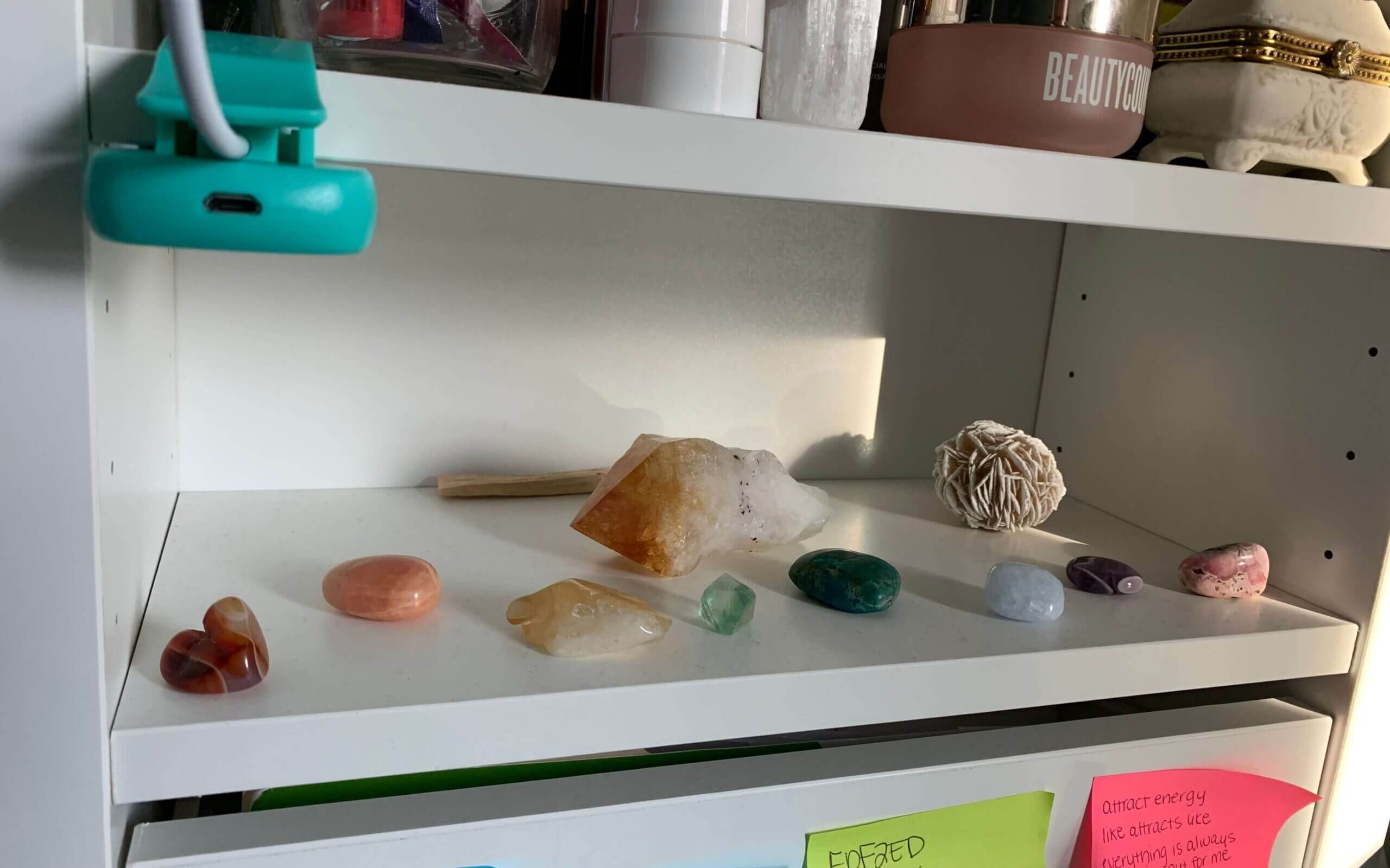 looking past the clutter to my sacred space