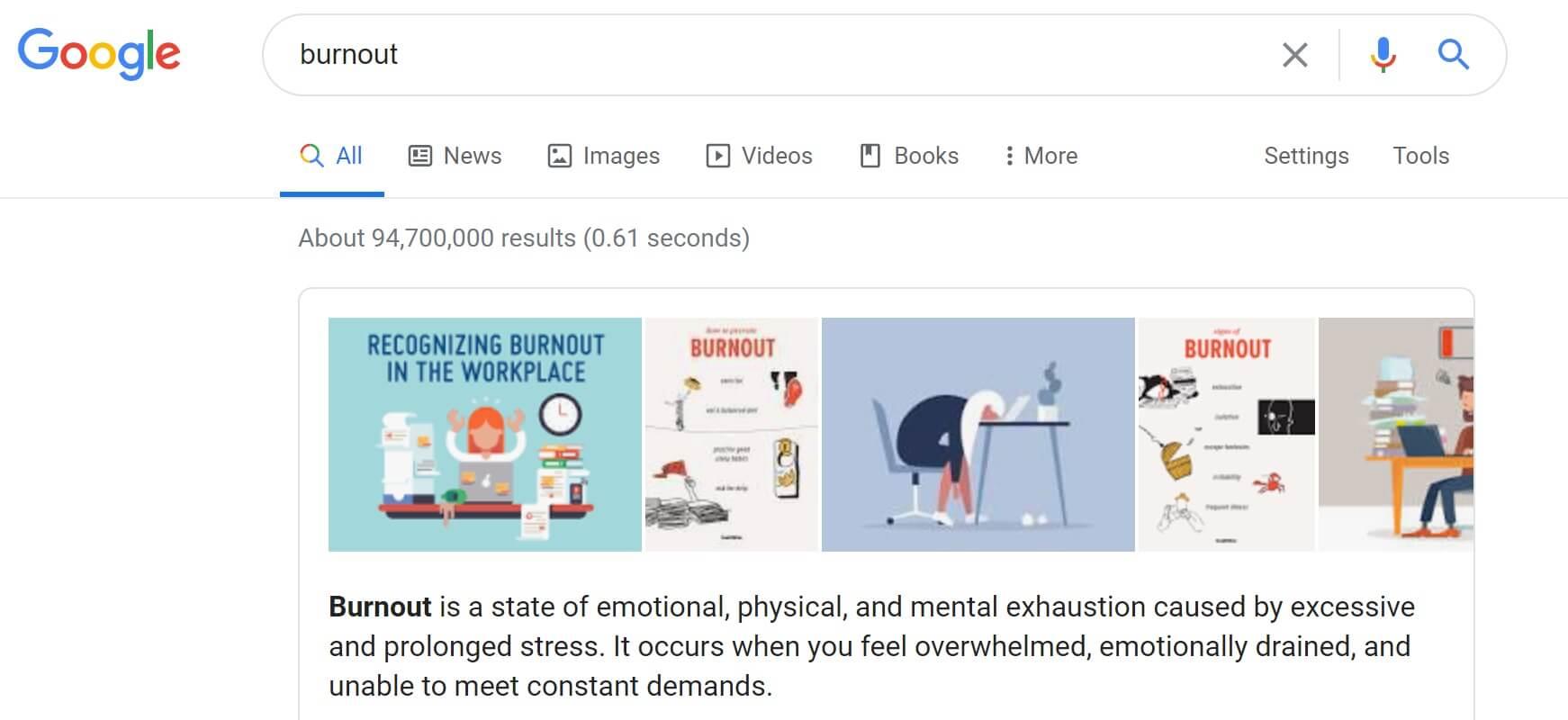 google burnout